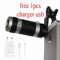 Uniqtro Telezoom 8x Smartphone Lensa Kamera Free Usb Charger for Asus Zenfone 2 Laser (ZE 551KL)