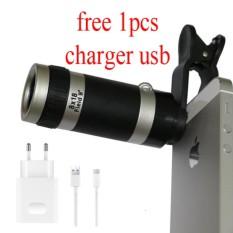 Uniqtro Telezoom 8x Smartphone Lensa Kamera+ Free Usb Charger for OPPO F3/F3 Plus