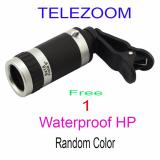 Situs Review Uniqtro Telezoom 8X Smartphone Lense For Samsung Galaxy J3 J310 Free Waterproof Hitam