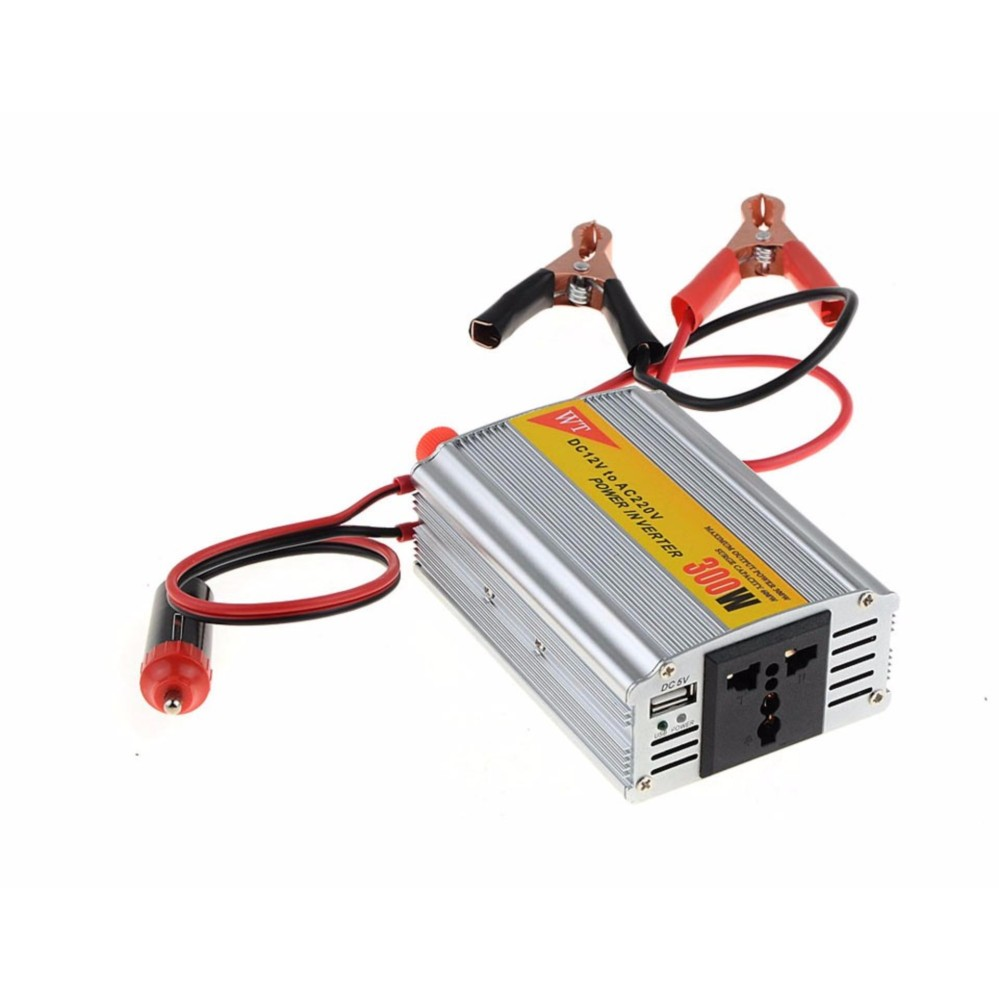 Unique Car Power Inverter 300W - 300W Inverter Power DC 12V ke AC 220V Cigarette Lighter 5V Port Charger USB