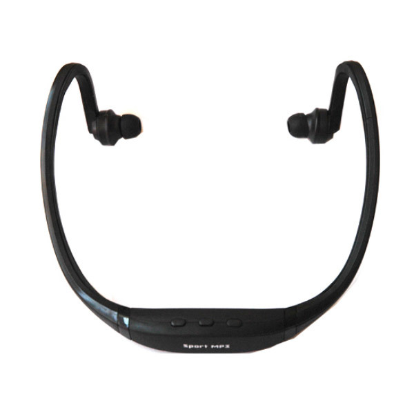 uNiQue Generic Sport MP3 Player + FM Radio Headset - Hitam