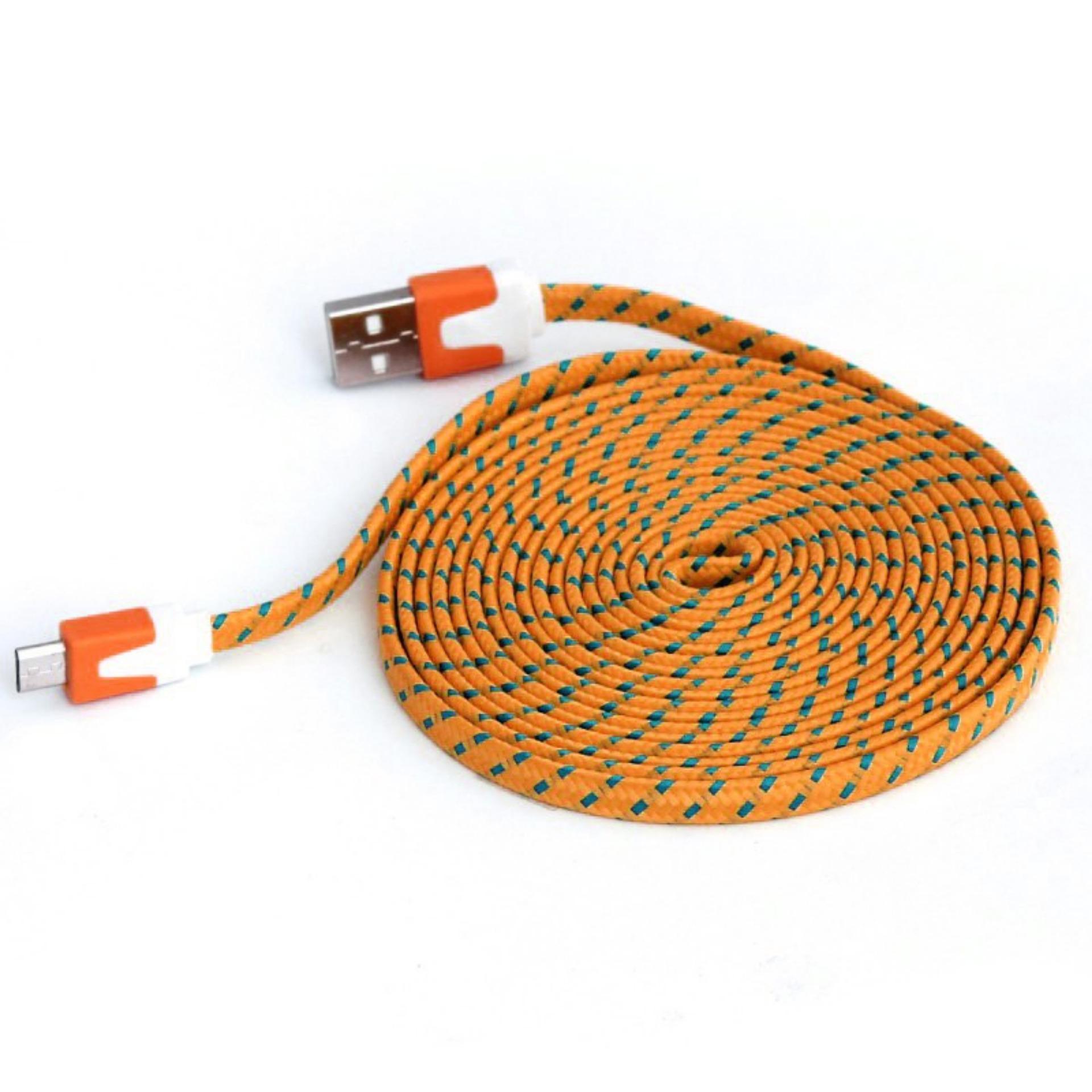 Unique Kabel Charger Data Tali Sepatu Micro USB 3 Meter .