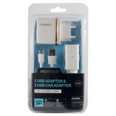 uNiQue Moreka Charger Rumah & Mobil Combo Home Car With Cable Micro USB M202