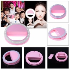 Unique Portable Clip-On Mini 36 Led Selfie Ring Lamp Fill-In Light Night Lampu Selfie Ring Lighting For Iphone Samsung Blackberry Htc Huawei Lg Smartphone Pc Black Outdoorfree Xj-01 By Uniquestore Usb