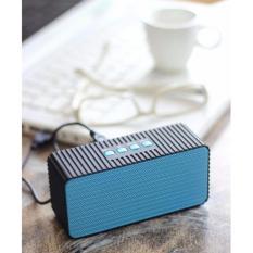Harga Unique Speaker Bluetooth Wireless Mini Portable Curve Hdy 005 Blue Terbaru