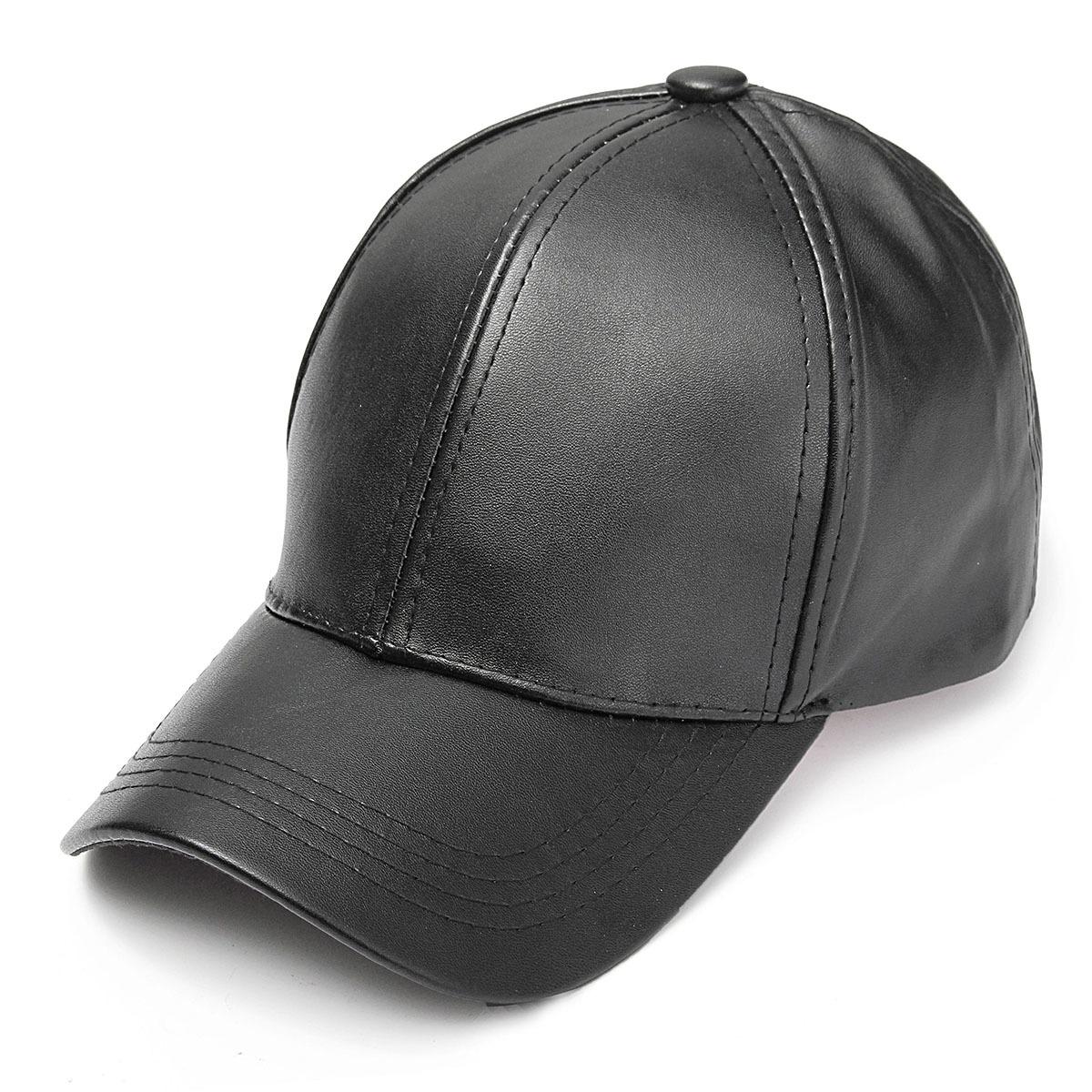 Jual Unisex Pria Wanita Kulit Lembut Topi Baseball Pengendara Sepeda Motor Olahraga Outdoor Adjustable Topi Hitam Intl Oem Online