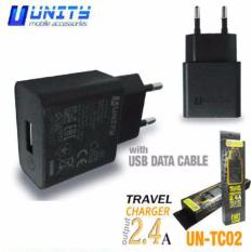 UNITY travel charger with usb 2.4A micro usb samsung ut-tc02 hitam