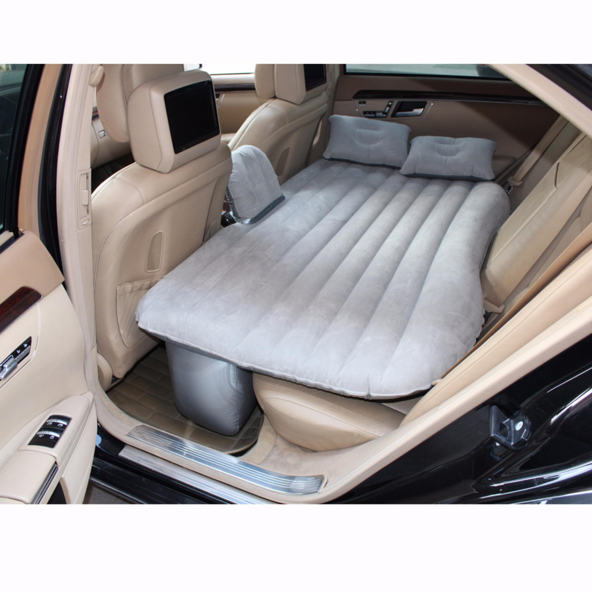 Universal  Car Air Mattress Bed Auto Back Seat Cover Drive Travel Car Inflatable Bed Wave Design Wi