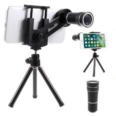 Universal 10X Mobile Phone Telescope Camera Lens with Tripod, Phone Clamp Range: 55 - 85mm - intl