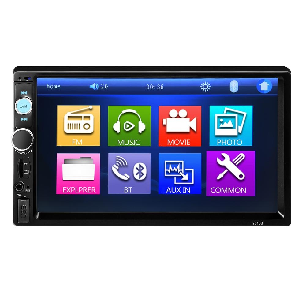 Promo Universal 2 Din Car Mp5 Player Car Video Player Touch Screen Auto Audio Stereo 7010B Multimedia Fm Mp5 Usb Aux Bluetooth Camera Intl Not Specified