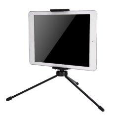 Universal 2 In 1 Kamera Stand Klip Bracket Tripod Holder Telepon Tablet Holder Gunung Hitam