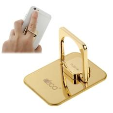 Universal 360 Derajat Rotasi Encrusted Metal Glass Ring Holder/Mobil Cincin Gantung untuk IPhone/iPad/Samsung/ HTC/Nokia/LG Mobile Phone (Emas)