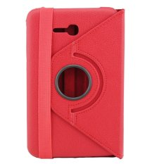 Universal 360 Degree Rotating Leather Stand Case Cover for Samsung Galaxy Tab 3 lite Tab v T116/T110/T111 - Merah