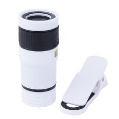Universal 8X Zoom Optik Teleskop Teleskop Lensa untuk Kamera Ponsel (Putih)-Intl