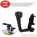 Review Terbaik Universal Adjustable Handheld Bluetooth Stabilizer Rig Gunung Kit Holder W Lens Untuk Ponsel Pintar