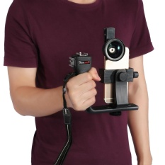 Review Tentang Universal Adjustable Handheld Bluetooth Stabilizer Rig Gunung Kit Holder W Lens Untuk Ponsel Pintar