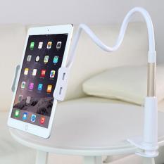 Beli Universal Aluminium Malas Klip Ponsel Holder Gps Desk Bed Stand Bracket Fleksibel 360 Rotating Mount Untuk Tablet Telepon Intl Pake Kartu Kredit