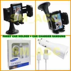 Universal Car Holder / Dudukan Hp Di Mobil + Samsung Car Charger 15w [ Paket Murah ]