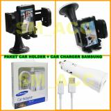 Jual Universal Car Holder Dudukan Hp Di Mobil Samsung Car Charger 15W Paket Murah Branded Original