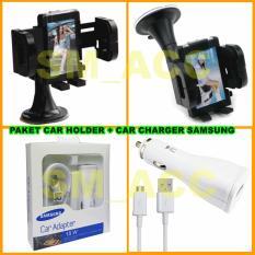 Harga Hemat Universal Car Holder Dudukan Hp Di Mobil Samsung Car Charger 15W Paket Murah