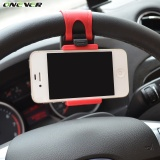Cara Beli Universal Car Steering Wheel Mobile Car Phone Holder Stand Merah