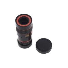 Universal Clip Lens Tele Lens Universal Teleschop Lens Clip 8x Zoom Fix for All Smartphone - Hitam
