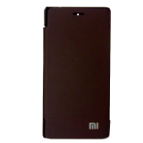 Beli Universal Flip Cover For Xiaomi Mi4 Coklat Screen Guard Online Murah