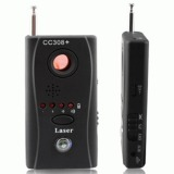 Universal Full Range Rechargeable Wireless Spy Camera And Bug Detector Cc308 Black Original