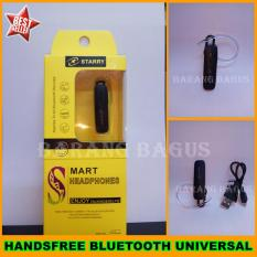 Universal Handsfree Bluetooth / Headset Bluetooth Universal For Samsung / Xiaomi / Asus / Oppo / Blackberry / Support All Smartphone - Hitam [ barang bagus ]