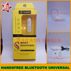 Universal Handsfree Bluetooth / Headset Bluetooth Universal For Samsung / Xiaomi / Asus / Oppo / Blackberry / Support All Smartphone - Putih [ barang bagus ]
