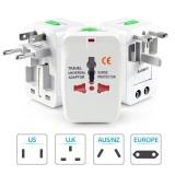 Toko Adaptor Plug Universal Internasional World Wide Travel Ac Power Adaptor Charger With Au Us Uk Eu Plug Adaptor Konverter Adaptor Putih Murah Tiongkok