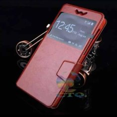 Universal Leather Case Windows Smartphone Ukuran 5,5 Inch - 5,9 Inch Slide Up Case Universal Flipsh