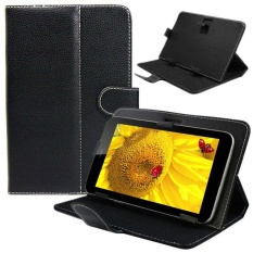 Universal Leather Stand Cover Case untuk 10 10.1 Inch Android Tablet PC-Intl