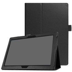 Universal Litchi Grain Leather Stand Shell Case for Lenovo Tab 4 10 Plus / Tab 4 10 - Black - intl