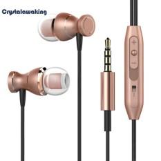Universal Magnetic In-Ear Earphone Volume Control 3.5mm Stereo Earpiece Headset Headphone with Microphone - intl