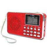 Model Universal Mini Rumah Portabel Digital Radio Stereo Fm Radio Pada Pembicara Disebut Tf Mp3 Merah Terbaru