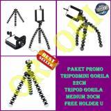 Spek Universal Mini Tripod Gorila Holder U Tripod Mini Universal Tripod Medium 30Cm Free Holder U Paket Promo Universal