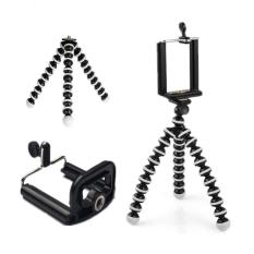 Universal Mini Tripod Stand Flexible Gorillapod Tripods Stander For GoPro Camera /iPhone /Samsung /Xiaomi /Android Phone Hitam