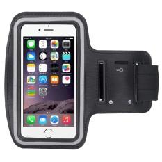 Universal Mobile Phone Ban lengan casing olahraga menjalankan Jogging Gym Ban lengan lengan Band case menutupi pemegang untuk Smart Phone di bawah umur 5.5 inci (hitam)