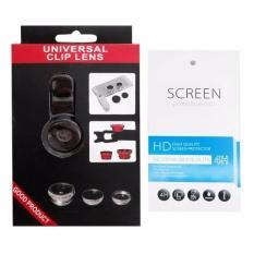 Universal Mobile Phone Case Lenses 3 in 1 Wide Angle Macro Fish Eye Lens + 1