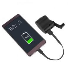 Universal Portable Emergency Tangan Power Dynamo Hand Crank USB Charger untuk Perjalanan, Outdoor-Intl