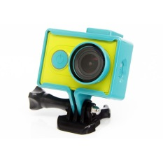 Universal Protective Case with Buckle Mount dan UV Filter lens Protector for Xiaomi Yi - Blue