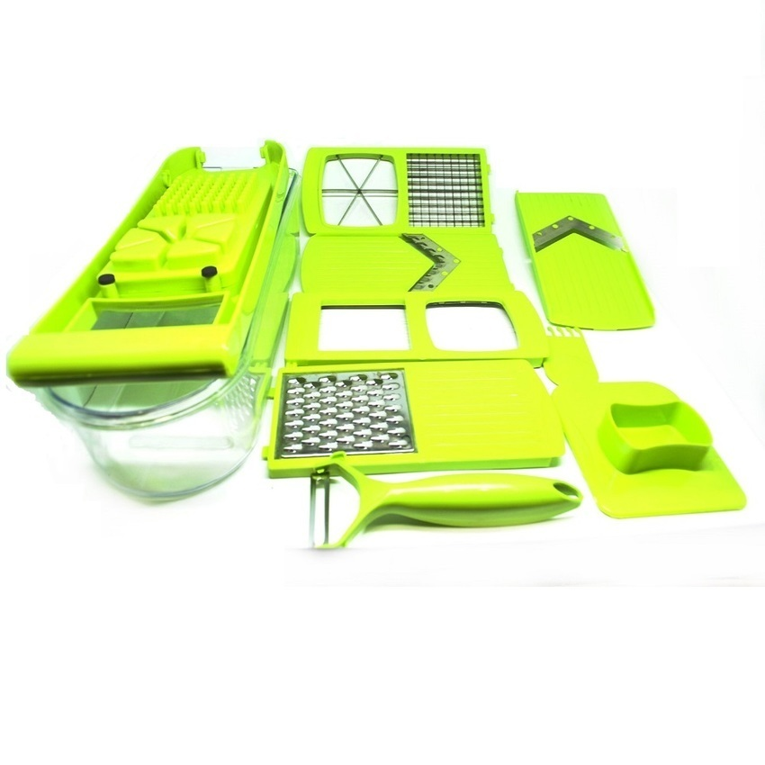 Jual Universal Qiecai Kitchen 12 Sets Of Small Tools Shredded Sliced Set Pemotong Sayur Hijau Antik