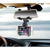 Ulasan Universal Smartphone Mount Car Holder Rearview Mirror Shm2