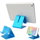 Review Universal Solid Aluminium Alloy Metal Mobile Phone Desktop Stand Mount Holder Stander Cradle Untuk Telepon Ipad Biru Oem