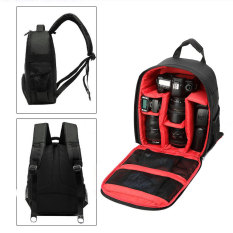 Harga Universal Tas Kamera Slr Camera Dslr Backpack For D7100 Small Compact With Pocket Black Red Seken