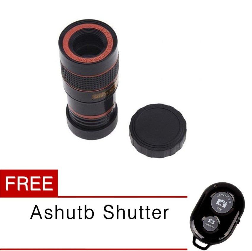 Beli Universal Tele Lens Teleschop Lens Clip 8X Zoom Gratis Ashutb Shutter Online South Sumatra