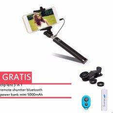 Pusat Jual Beli Universal Tongsis Monopod Hitam Lens Clip Fisheye 3In1 Hitam Tomsis Bluetooth Remote Shutter For Smartphone Biru Power Bank 5000 Mah Putih Dki Jakarta