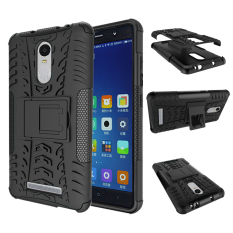 Jual Universal Tpu Pc Anti Knock Hard Armor Style Protector Case Cover For Xiaomi Redmi Note 3 Black Branded Murah