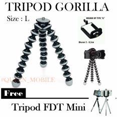 Universal Tripod Gorilla Size L + Free FDT Tripod Mini